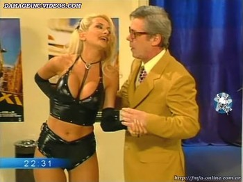 Paula Volpe big boobs in a black leather corset