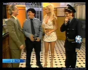 Paula Volpe hot body in mini skirt