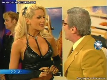 Paula Volpe big tits in leather top