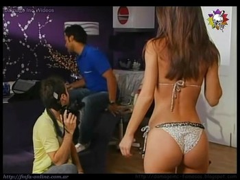 Gisela Van Lacke tight ass in thong