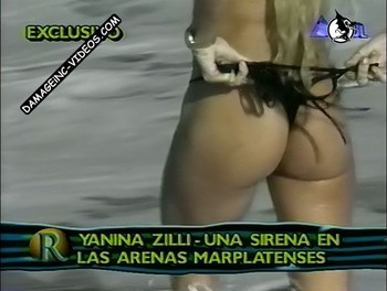 Yanina Zilly takes off her thong