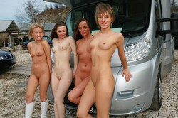 outdoor Girls camping nude