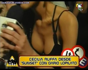 Agustina Attias sexy cleavage