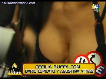 Agustina Attias cleavage close up shot