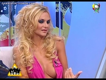 Amalia Granata hot cleavage blonde