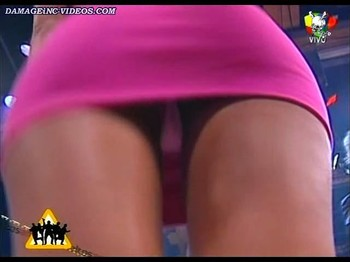 Amalia Granata hot upskirt on live TV