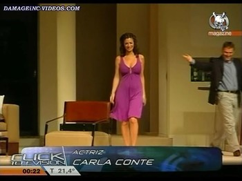 Carla Conte sexy dress with deep cleavage