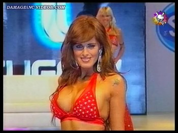Silvina Luna big boobs in cleavage top
