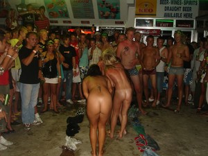 Nude with friends