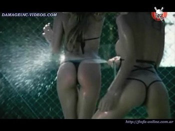 Veronica Manso and Lucia Cabello tight butts in g-string