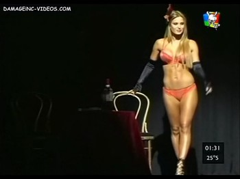 Jesica Cirio fitness body in lingerie