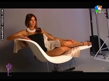 Catherine Fulop hot legs backstage