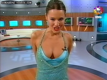 Pampita hot cleavage on TV