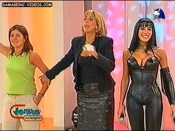 Marixa Balli hot body in leather catsuit