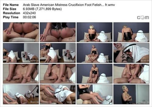 Arab Slave American Mistress Crucifixion Foot
