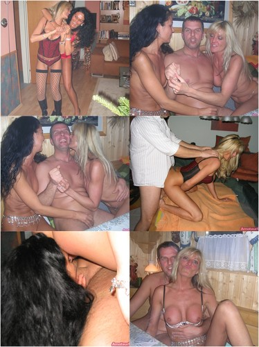 Amateur Threesome, Two 40-year-old Ladies And Men