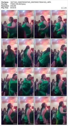 زوجة مربربة تهز طيزها في حفل شعبي