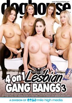 4 On 1 Lesbian Gang Bangs 3 (2017) - 720p