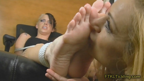Feet tickle worship