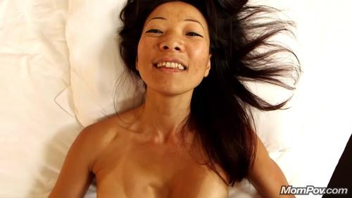 Mompov.com -  Savannah Hot little Asian MILF returns for anal