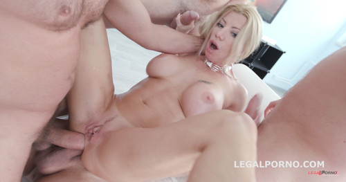 LegalPorno.com - Lara De Santis 4on1 TOYS / DAP / TAP / Squirting / Gapes / Anal Fist / Foot Insertion / Swallow GIO654