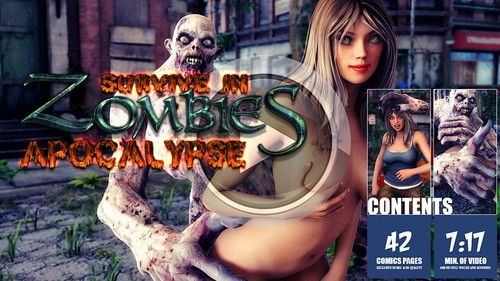 Free download hentai and anime: Taboo3DMovies – Survive In Zombies Apocalypse (Video + Comics)