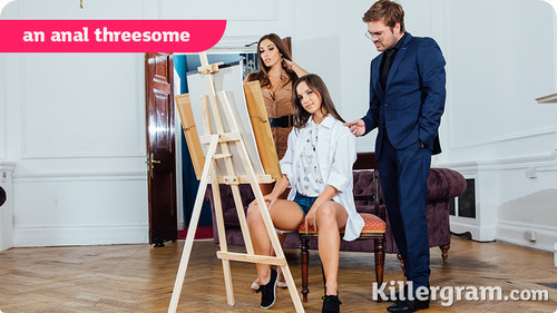 Killergram - Kristy Black, Clea Gaultier - An Anal Threesome