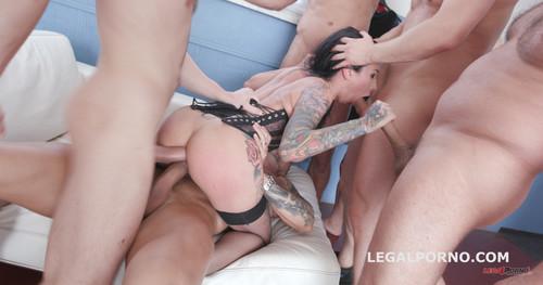 LegalPorno.com - 7on1 DAP gangbang with Lily Lane Balls Deep Anal, DAP, Gapes, Facial GIO662